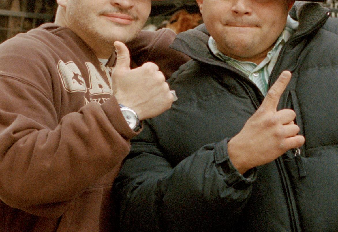 Men posing for the camerafor Caroline Tompkins' Hey Baby project. via http://www.carolinetompkins.com/ (103267)