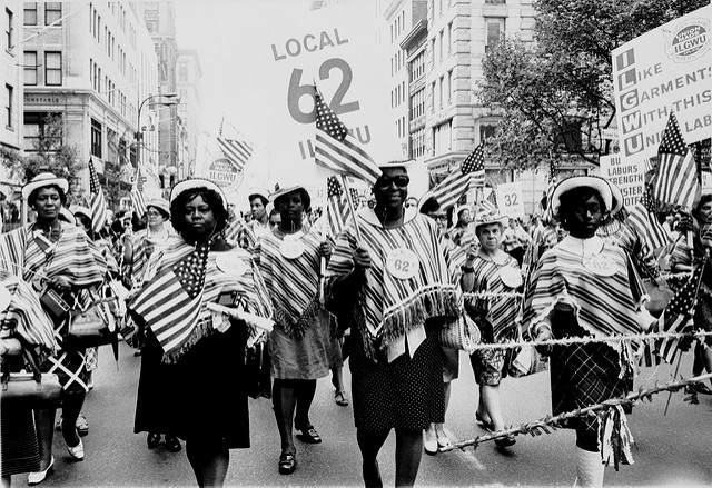 ILGWU Local 62 marches in a Labor Day parade (247169)