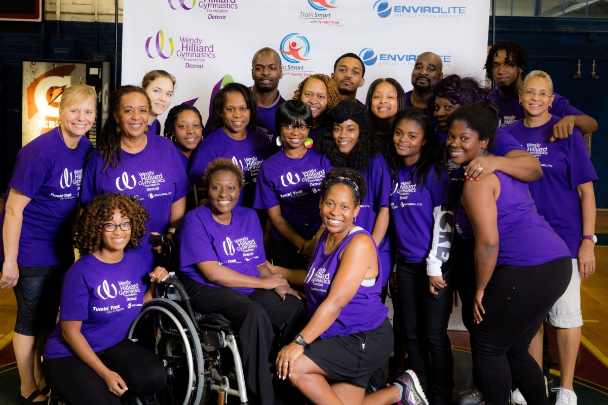 Wendy Hilliard (bottom center) with people from the Detroit branch of the WHGF. (281166)