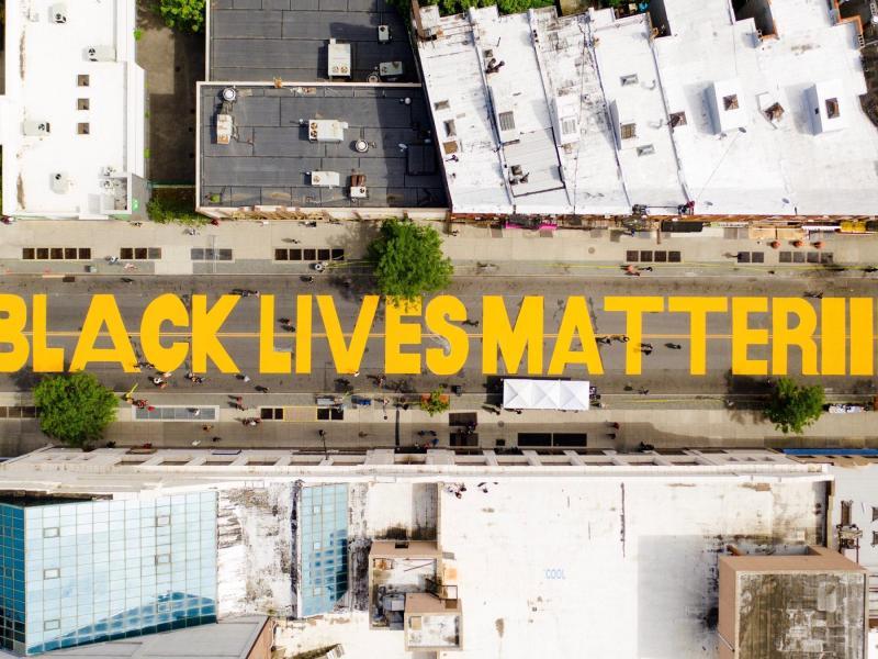 Black Lives Matter mural in Brooklyn (294082)