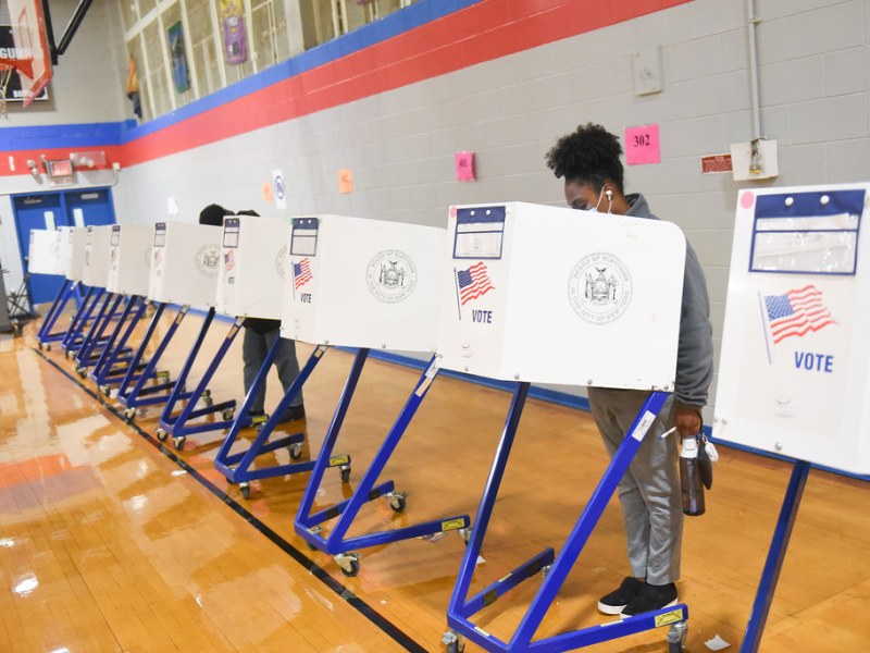 Polling site at PS 375 Jackie Robinson School in Brooklyn on Election Day, Tuesday, November 3, 2020. Voting. (302654)
