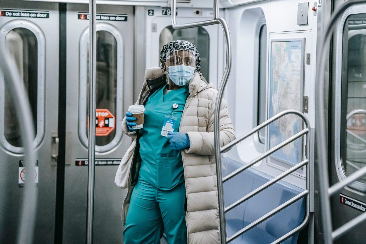 Nurse riding the subway (302222)