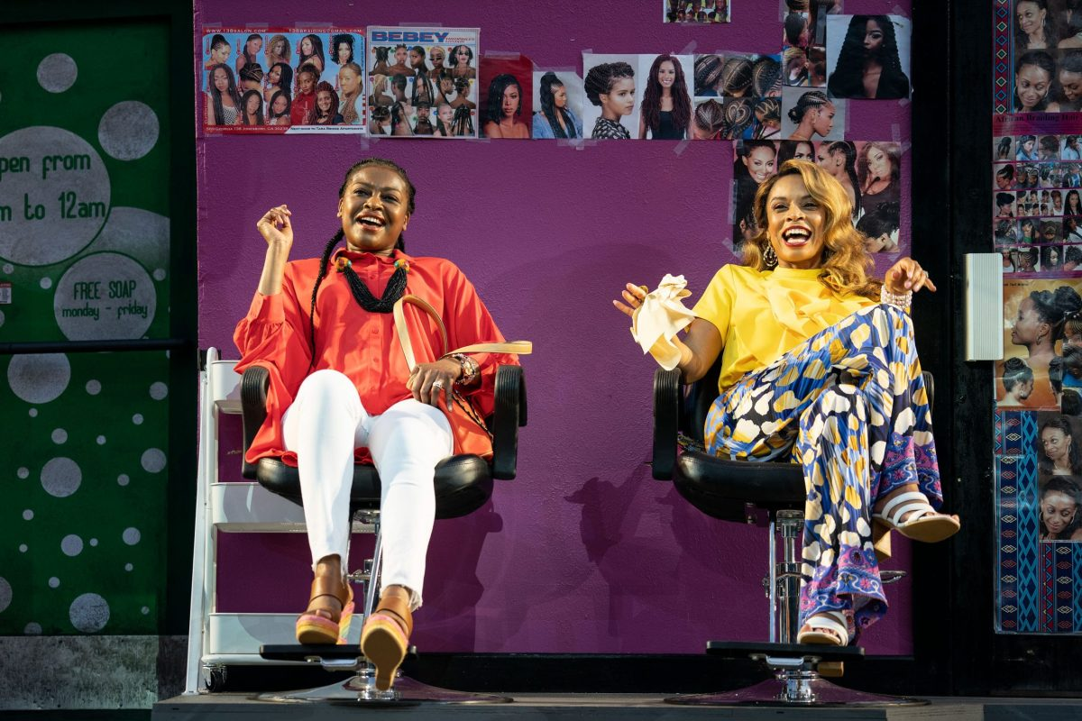 Pascale Armand and Susan Kelechi Watson in a scene from the Delacorte Theatre production (307834)