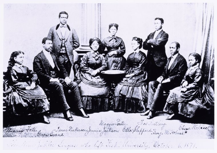 Early photo of the Fisk Jubilee Singers (308077)