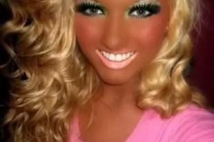 woman heavily suntanned