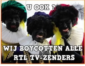 pathetic boycott called against RTL Nederland for stopping with Zwarte Piet
