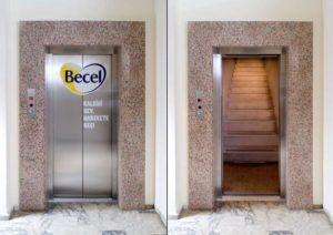 Advertising Becel Elevator