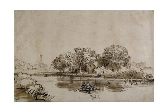 rembrandt-van-rijn-a-man-sculling-a-boat-on-the-bullewijk-with-a-view-toward-ouderkerk-c-1650_a-l-10101984-8880726