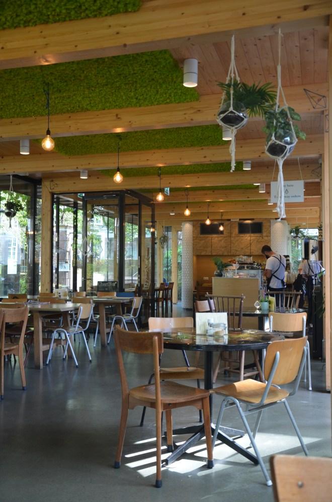 Interior of Dignita Cafe Hoftuin Amsterdam