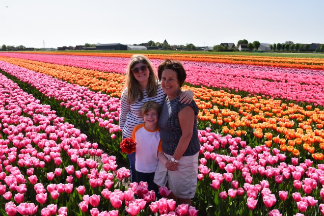 Group picture FAM Flower Farm tulip fields Lisse