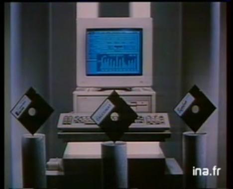 Amstrad PC 1512, logiciel et imprimante (1990)