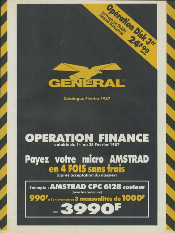Catalogue GENERAL (février 1987)