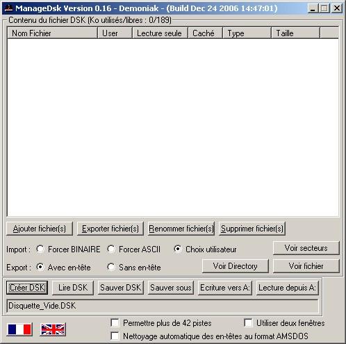 Managedsk : ajouter un listing dans un fichier .dsk