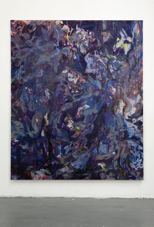 Julia_Jo_Untitled Purple_oil and flashe on canvas_72x60