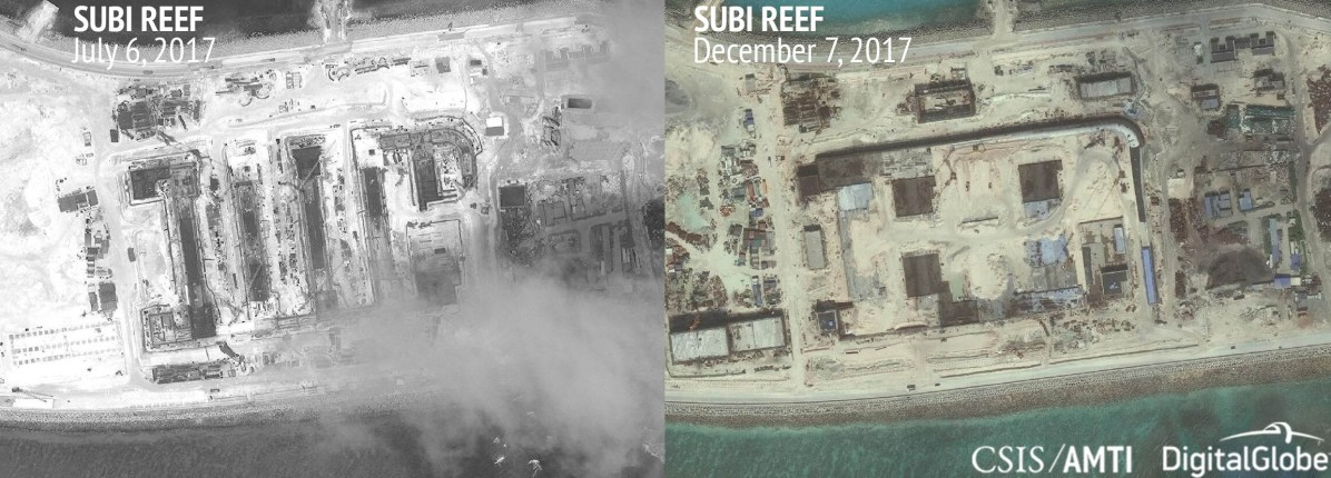 Subi Reef, July 6 and December 7, 2017