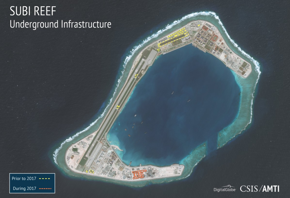 China build artificial islands in South China Sea - Page 5 Subi_12_7_2017_underground