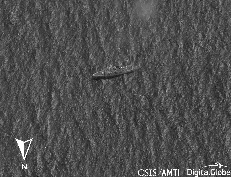 A suspected CCG type 718B cutter off Thitu Island, Jan 11, 2019