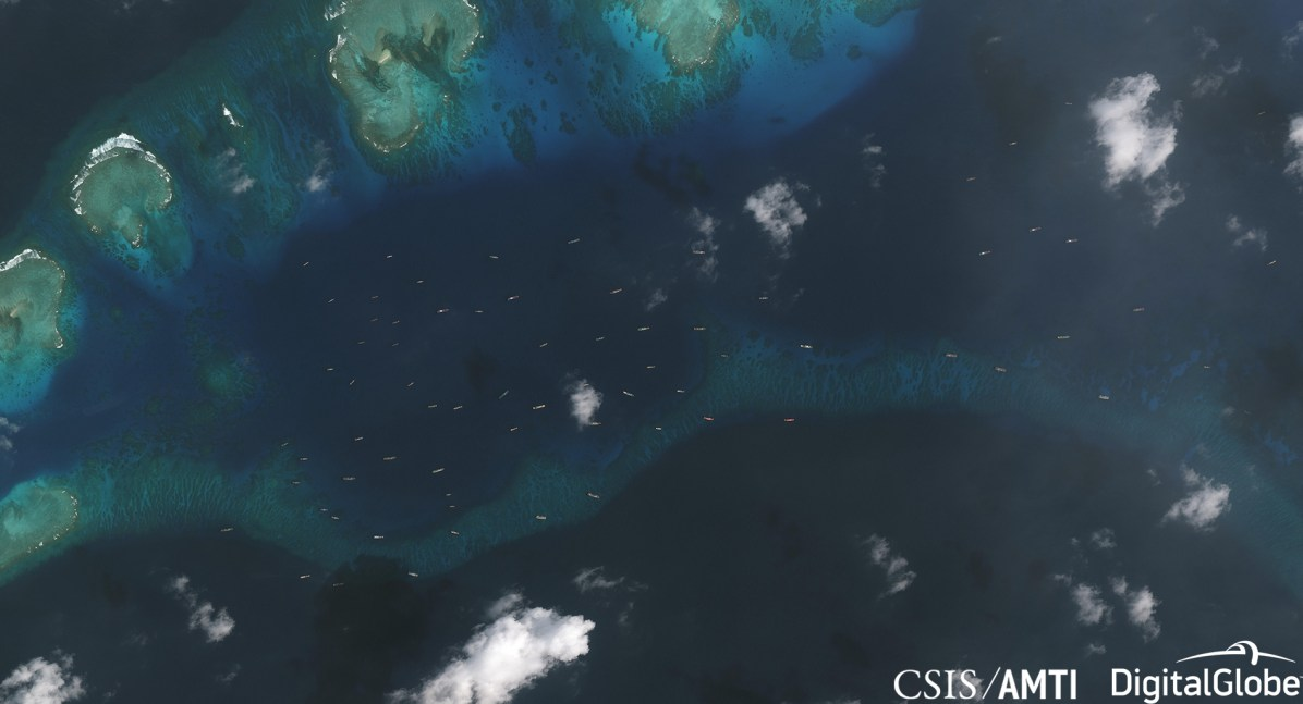 Maritime militia fleet off of Thitu, Dec 20 2018