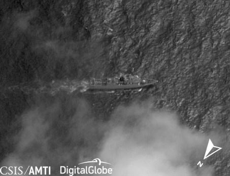 A PLAN Type 056 Corvette off Thitu Island, Jan 11, 2019