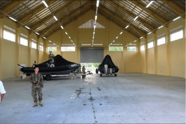 Rigid Hull Inflatable Boat maintenance facility at Ream Naval Base, 2017