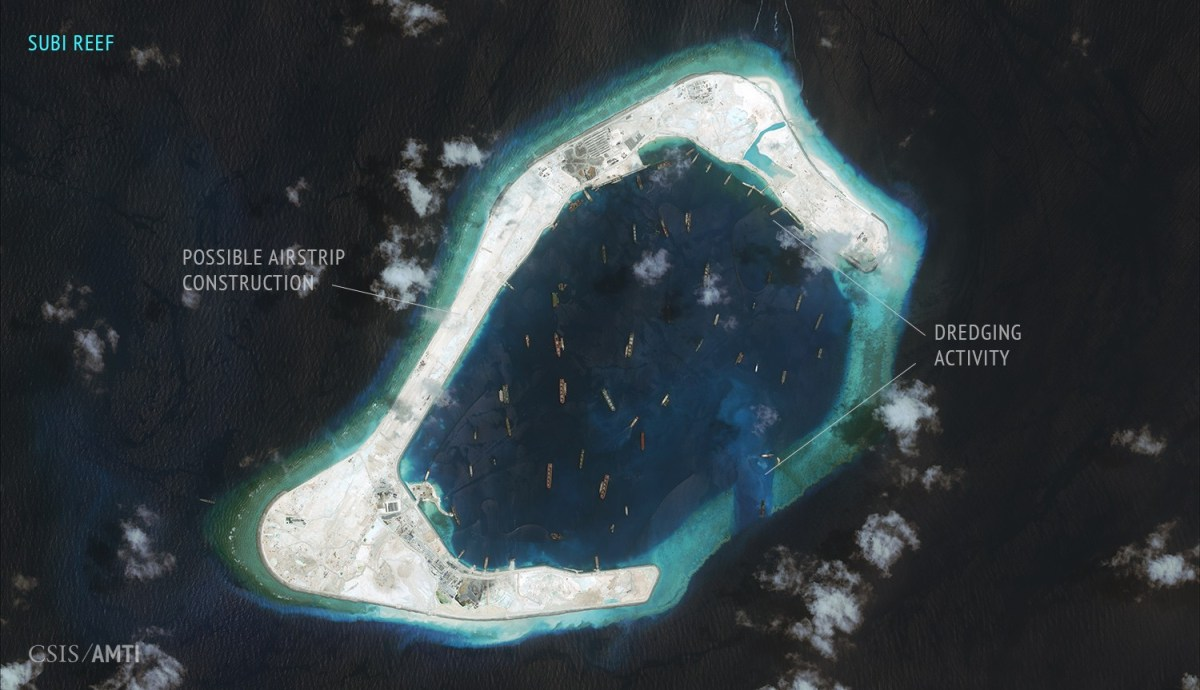Subi Reef. September 3, 2015.
