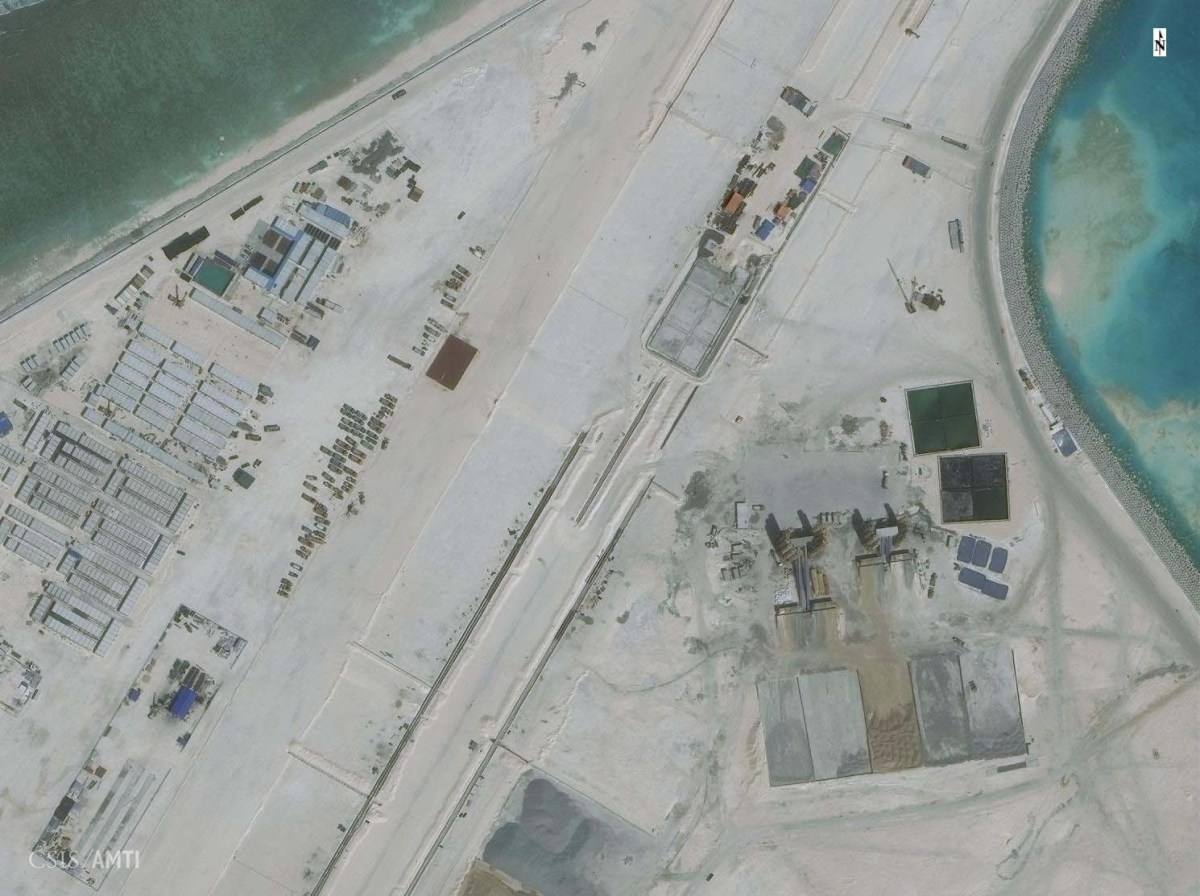 The center portion of the Subi Reef runway as of November 19.