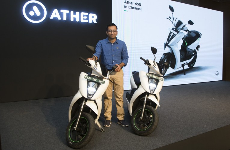 Ather Energy expands to Chennai: Launches Ather 450