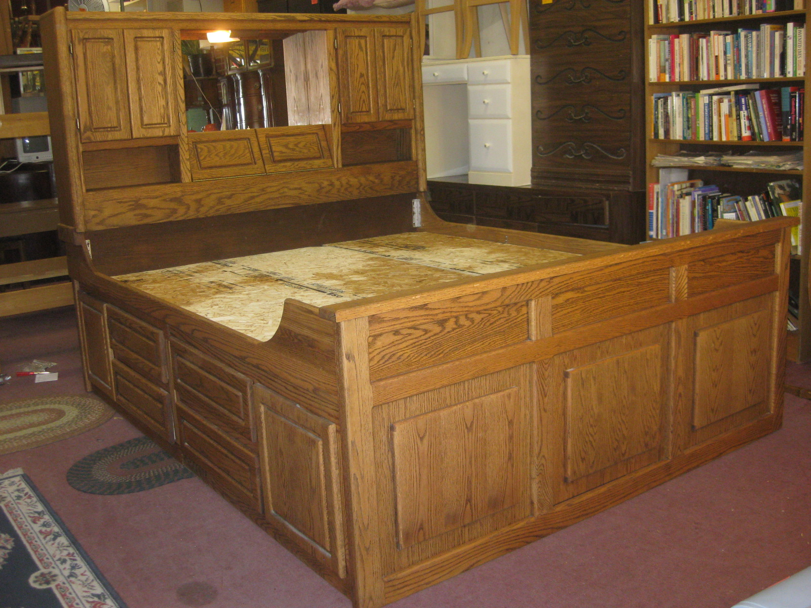 King Size Captains Bed With Drawers