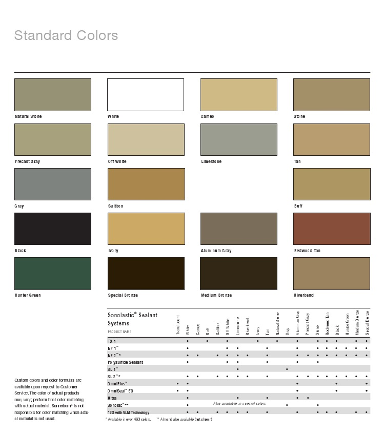 Sonneborn Sl1 Color Chart | mountainstyle co