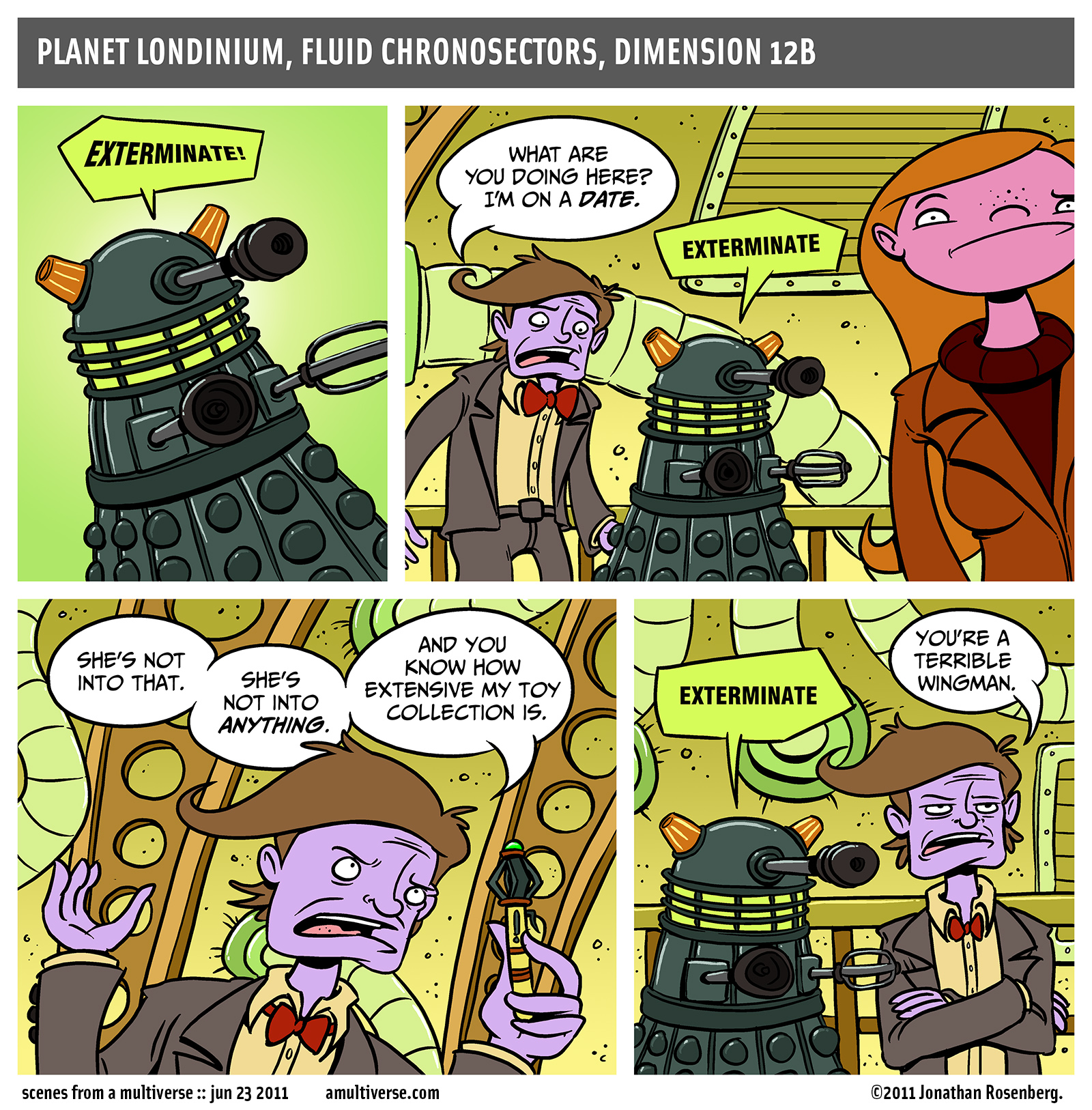 exterminate good times come on let's all exterminate and have a good time