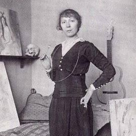 Мари Лорансен в 1916 году (фрагмент снимка)