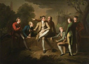 A Grand Tour Group of Five Gentlemen in Rome John Brown (atrib.), 1773 Londres, National Trust, Ham House; foto: National Trust Images/Derrick E. Witty