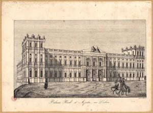Palacio Real d'Ajuda, em Lisboa / Michellis lith.. - [Lisboa : Lith. de M.el Luiz., entre 1836 e 1850].