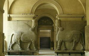 Lamassu, séc. VIII a.C., palácio de Sargão II, em Korsabad. Foto: Alamy