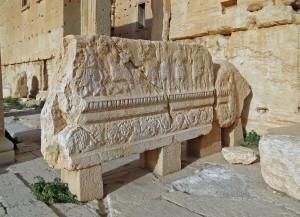 Relevo no templo de Bel Palmira, Síria Foto: Bernard Gagnon, 2010.