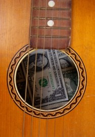 Guitar with Money