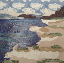Rivers Edge cloth painting