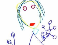 child's drawing - terrible woman