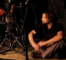 Mark Blacknell near drums
