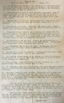 1937 Hershey Park Rules & Regulations [small]