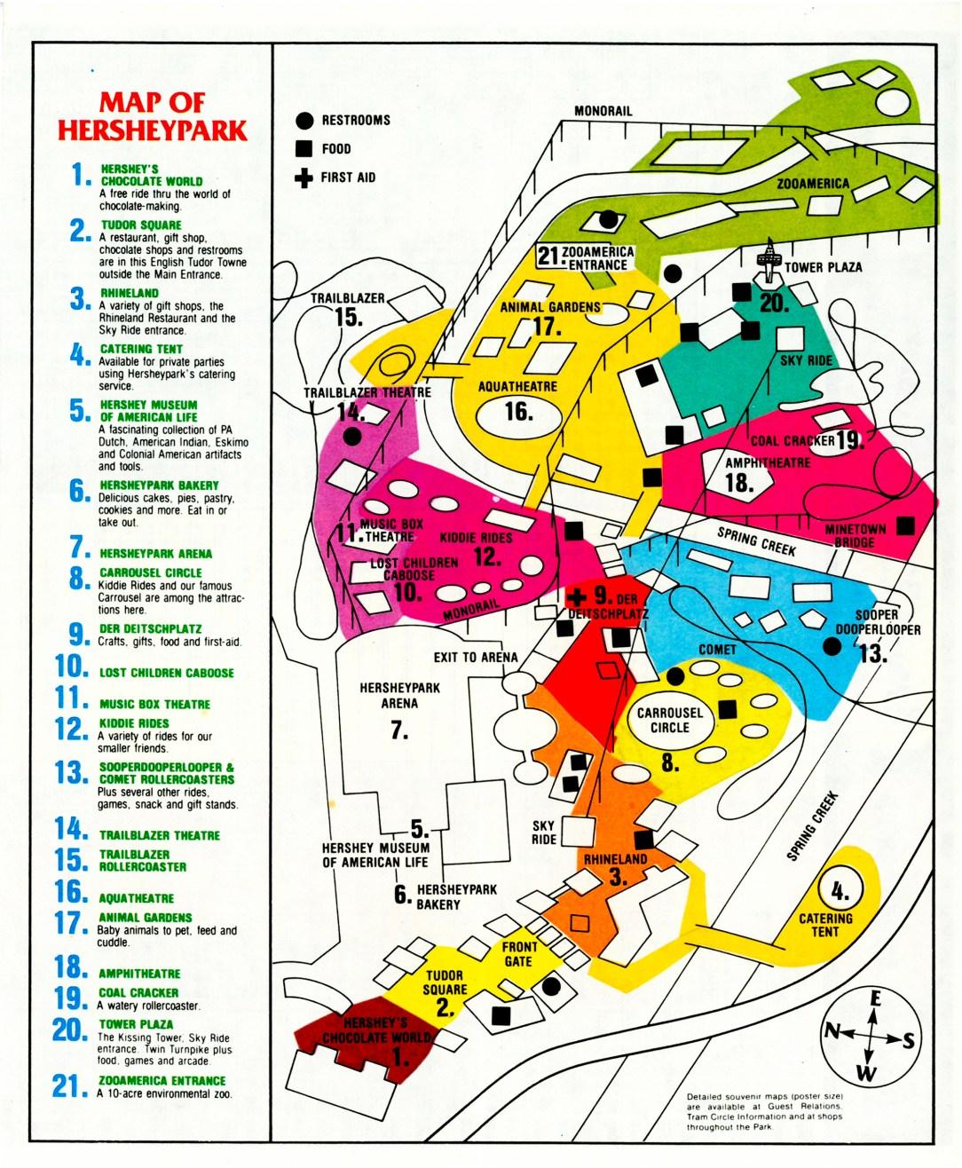 1979 Hersheypark map