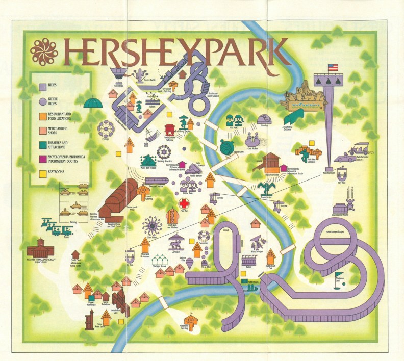 1986 Hersheypark map B
