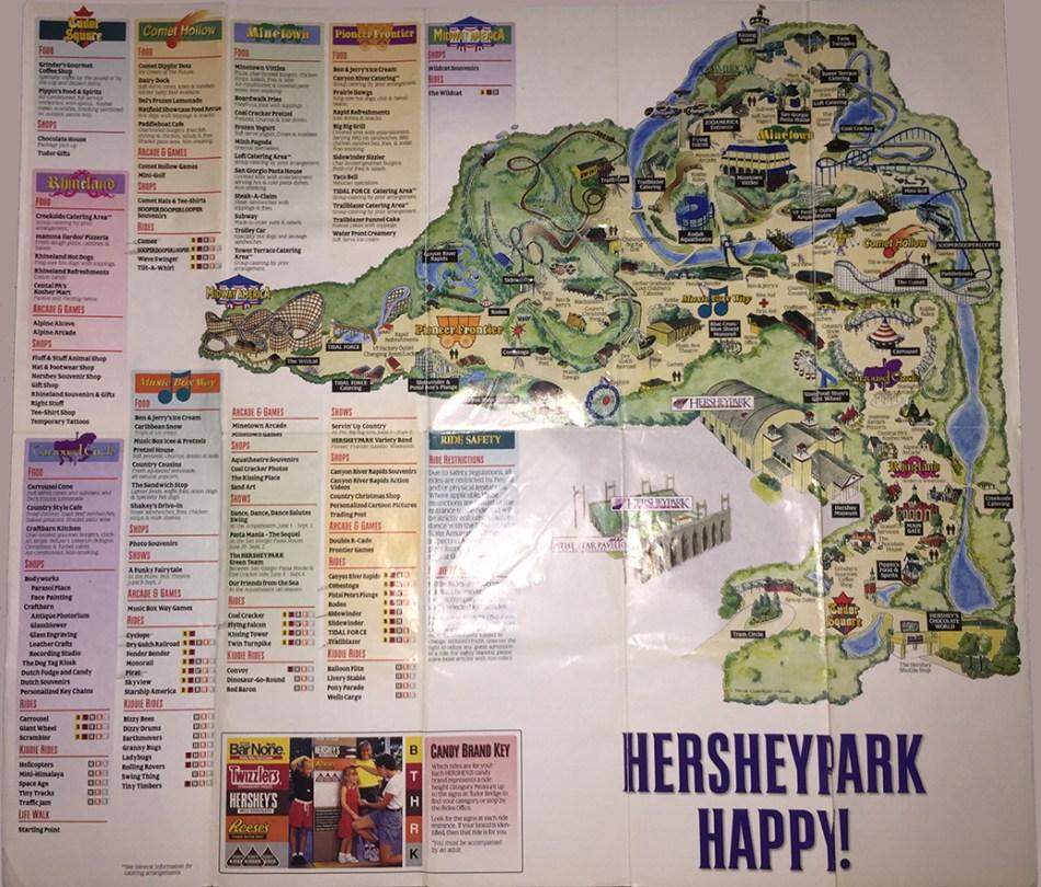 1996 Hersheypark map