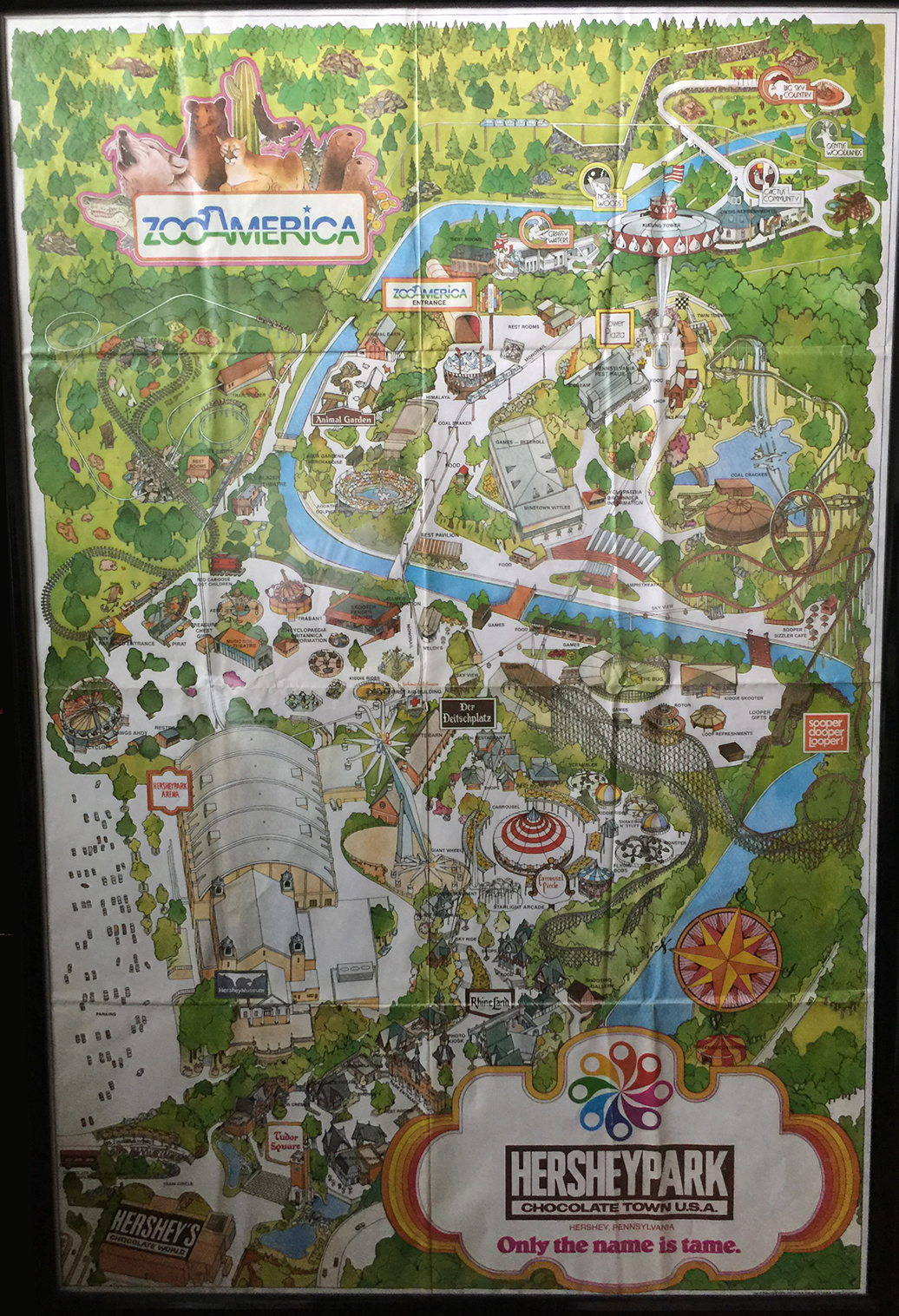 Hershey Park Official Map - 100 W Hersheypark Drive