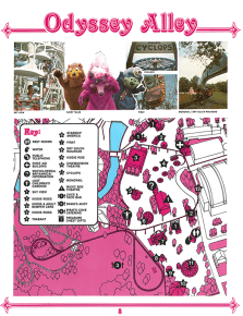 Hersheypark souvenir map - Odyssey Alley