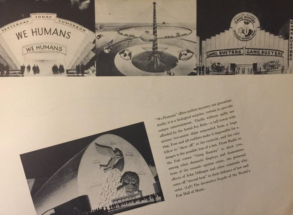 1939 Worlds Fair souvenir booklet featuring Aerial Joy Ride