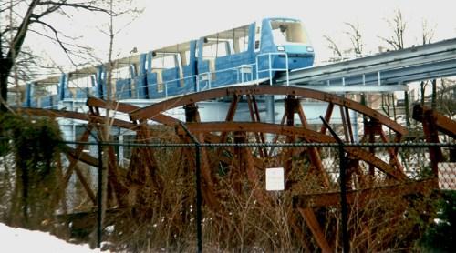 Circa 1984 The Bug scrapped near Monorail [JWGreen].jpg