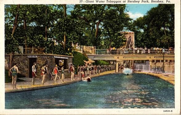 [1932] - 2A826-N - Giant Water Toboggan