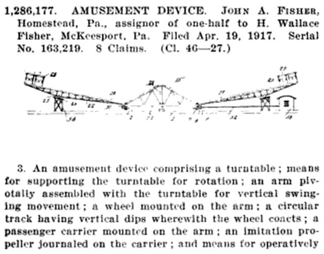 US1286177 Amusement Device [Fisher, John A and Fisher, H Wallace]