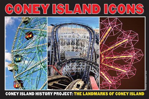 The Coney Island History Project's free public exhibition center under the Cyclone Roller Coaster is open on weekends.  Photo by Coney Island History Project via flickr